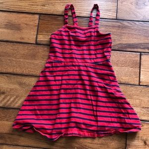 Gymboree blue and red striped dress size 4